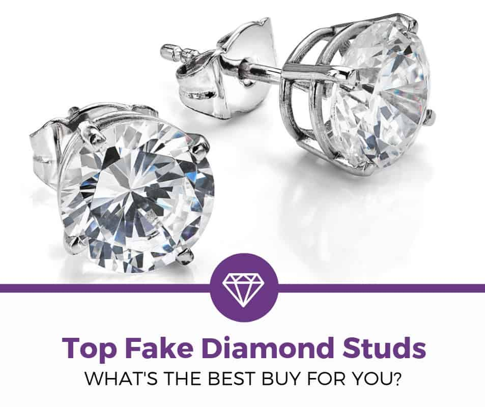 best fake diamond stud earrings for women (1)