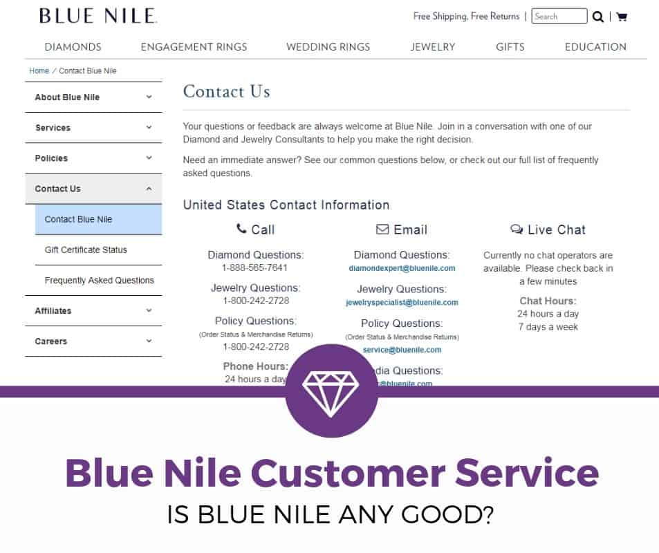 Blue Nile Customer Service