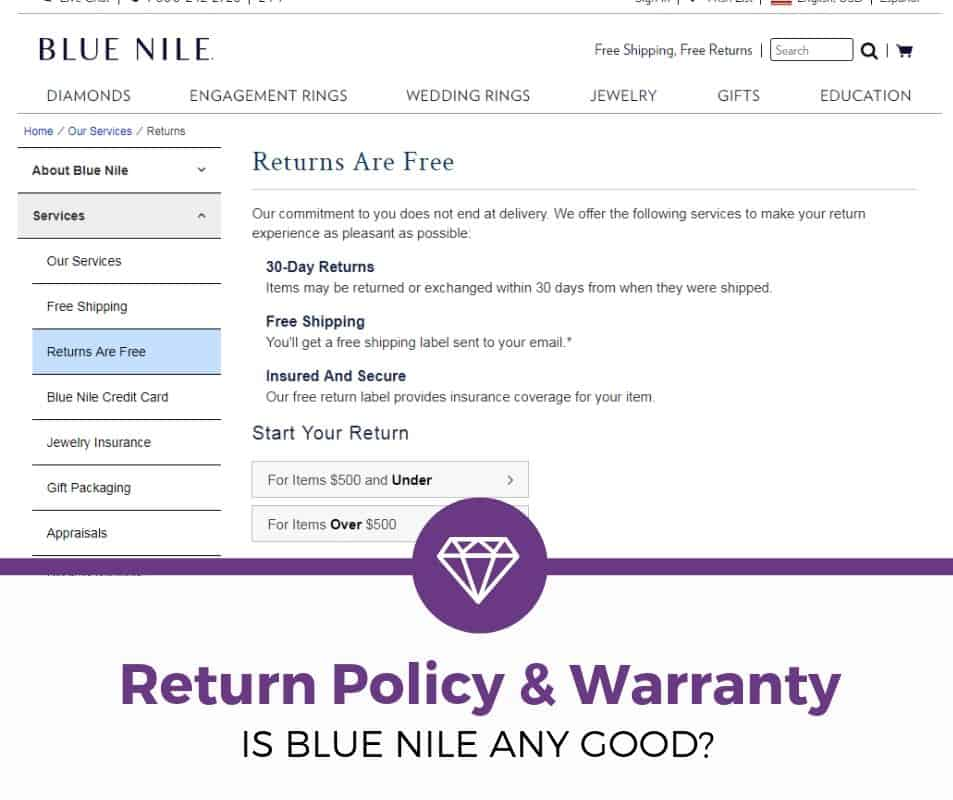 Blue Nile Return Policy & Warranty