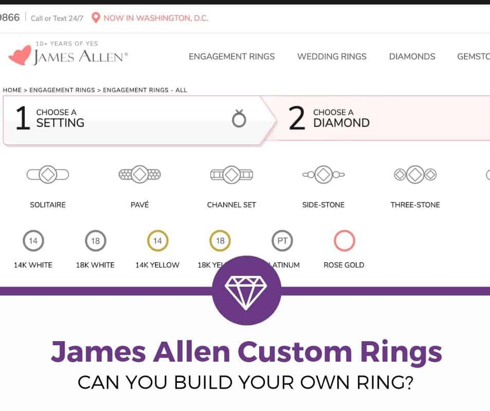 Does James Allen Let You Build Your Own Ring