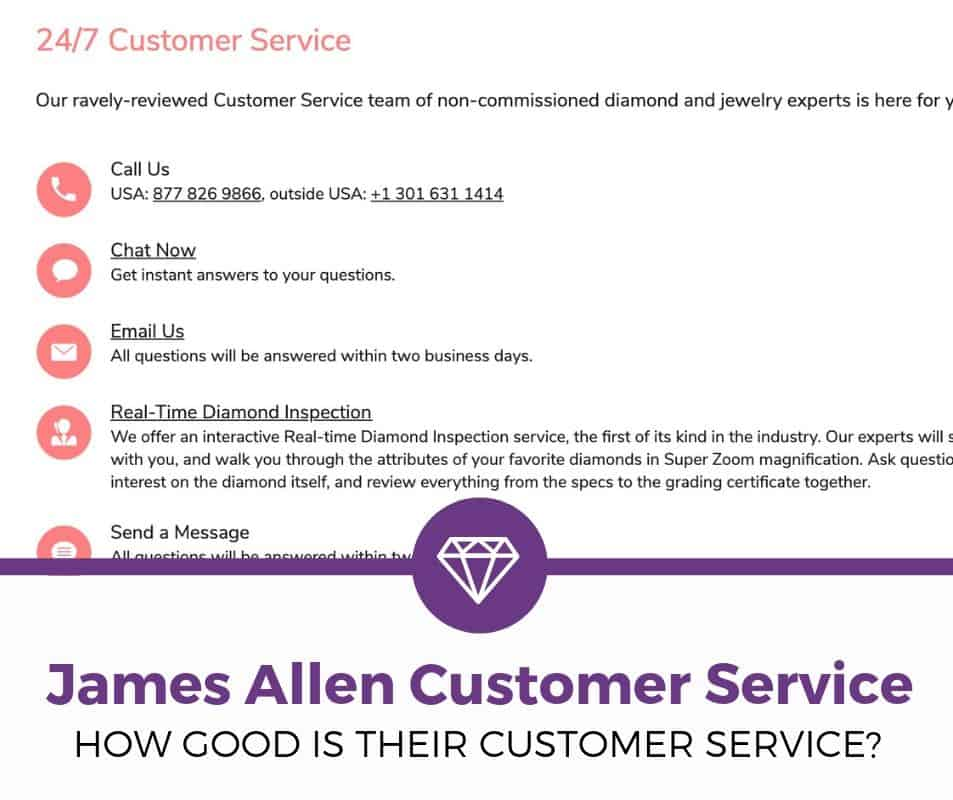 james allen customer service good or bad