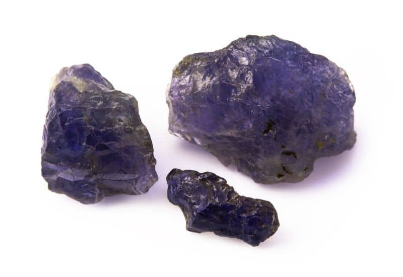 purple Iolite purple gemstone