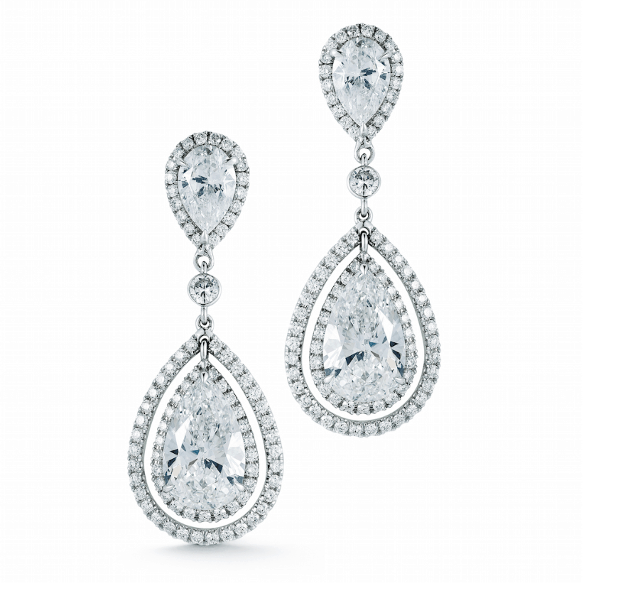 pear shape diamond earrings from abe mor