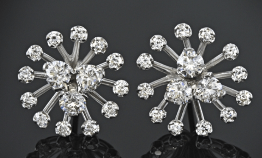 unique diamond earring style from white flash