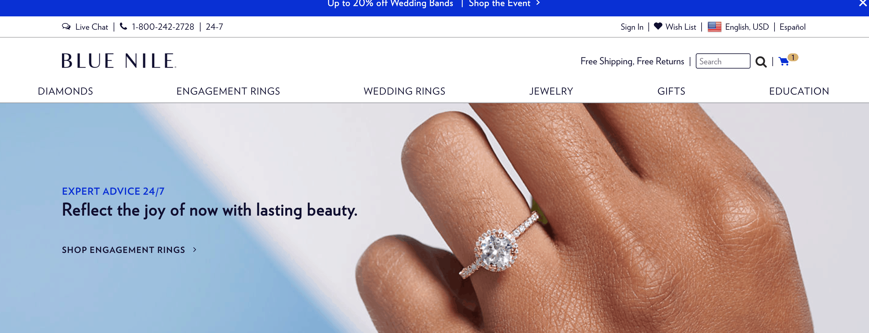 blue nile online diamond earrings store