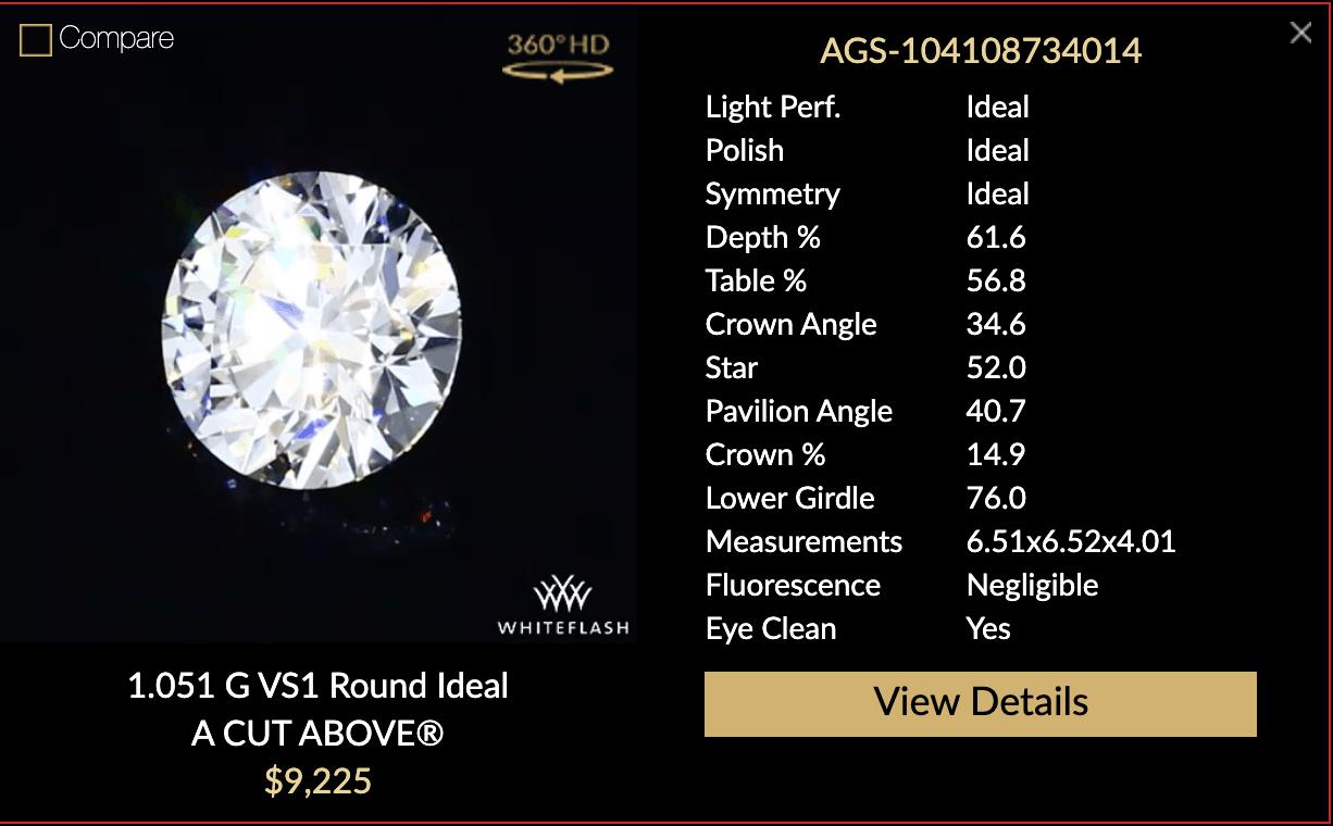 whiteflash a cut above diamond option