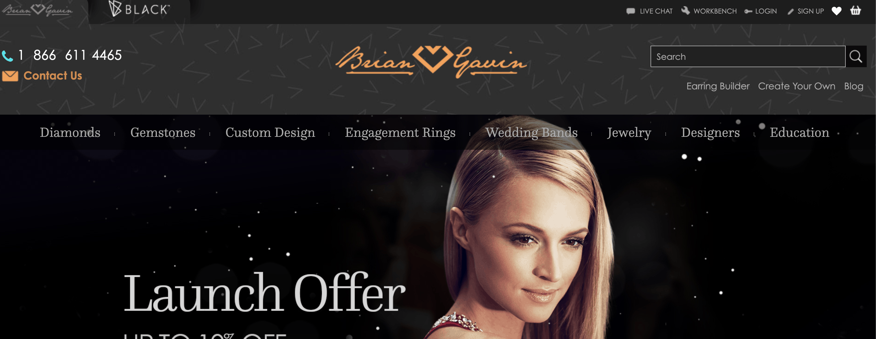 brian gavin online diamond earrings store