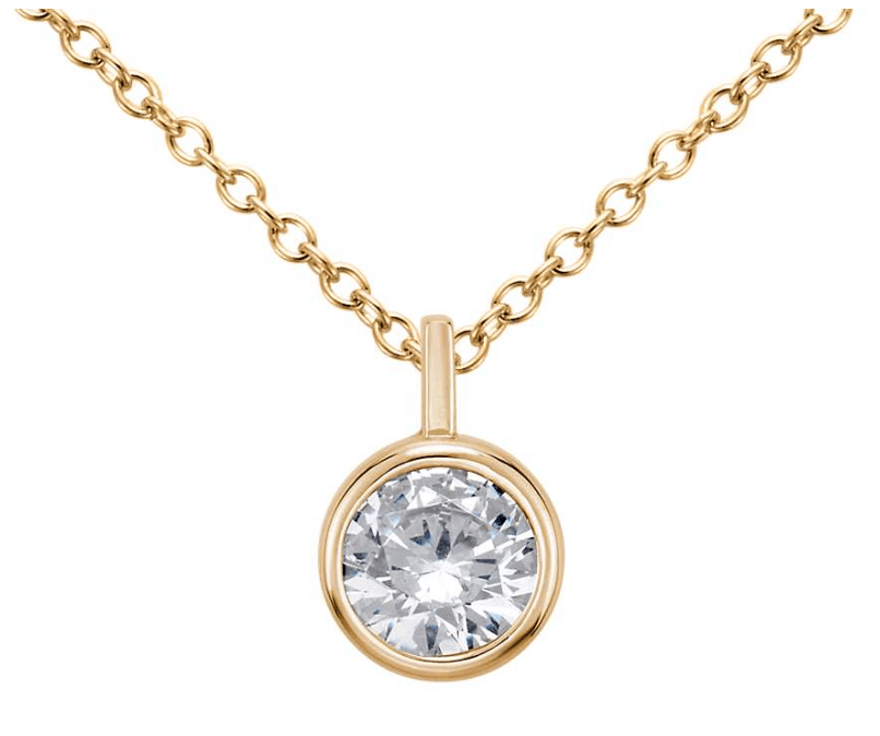 yellow gold diamond necklace from blue nile