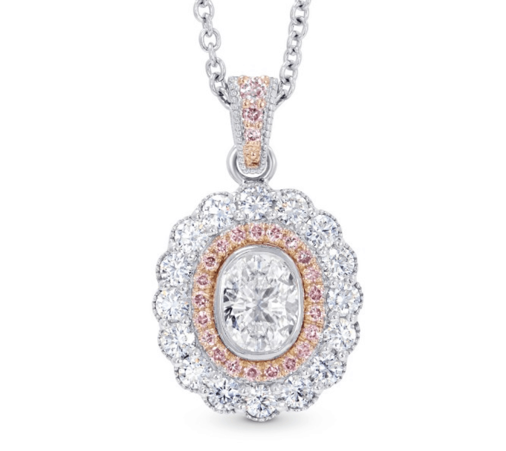 oval diamond necklace from leibish