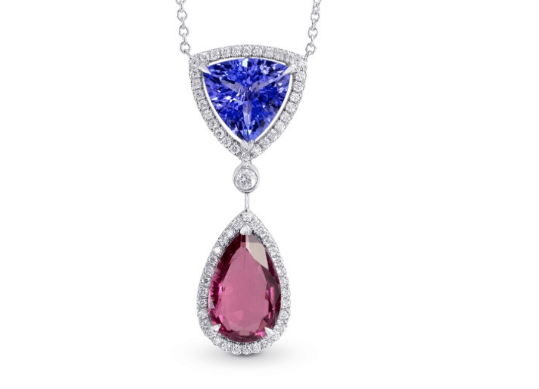 tanzanite pink diamond necklace from leibish