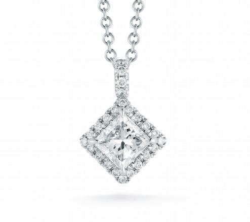 Abe Mor princess cut halo diamond