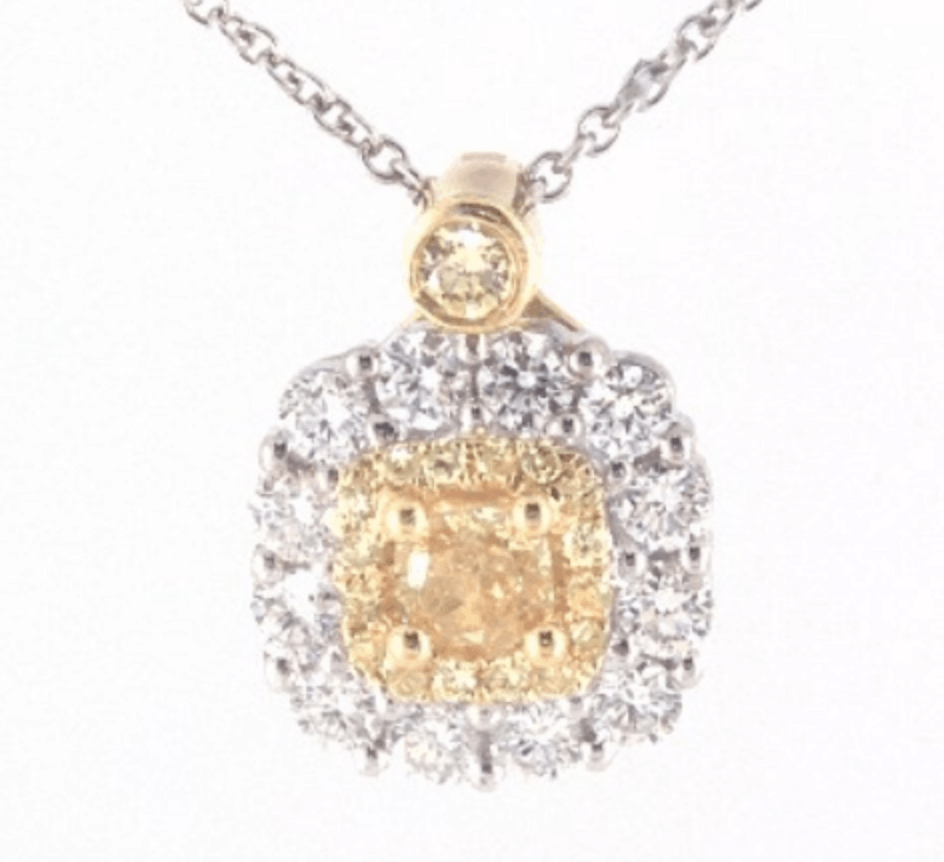 fancy yellow diamond necklaces from james allen