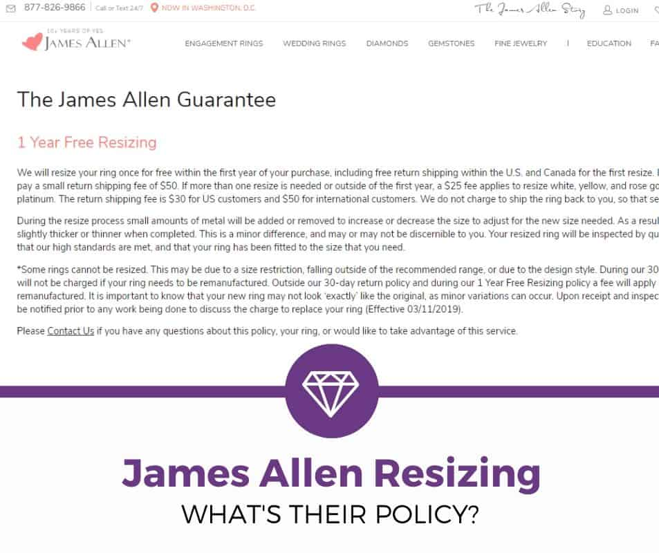 james allen resizing