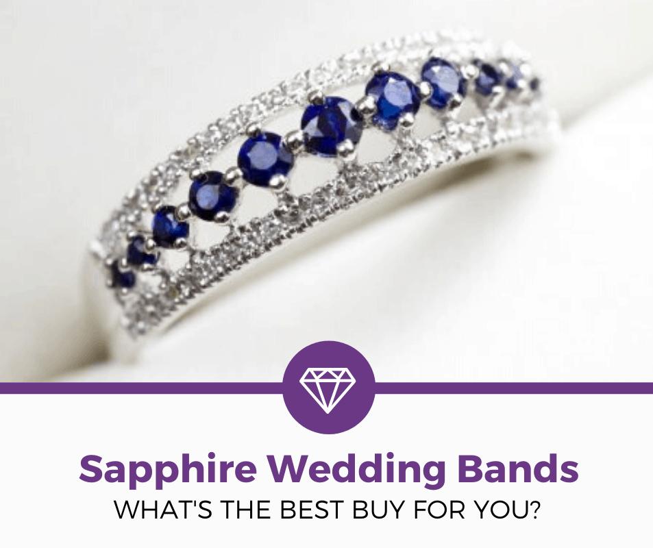 sapphire wedding bands