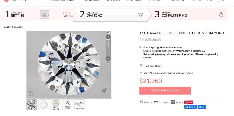 1.5 carat diamond flawless clarity
