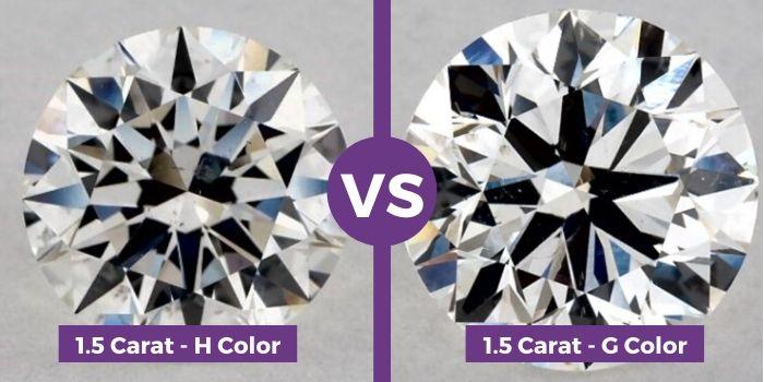 1.5 carat h color vs 1.5 carat ring g color ring