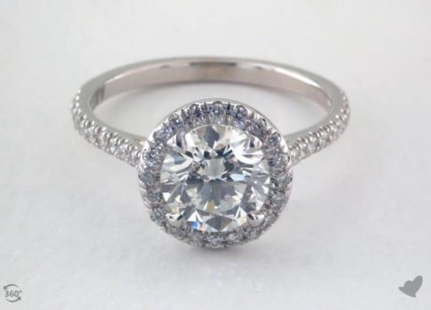 1.5 carat round diamond ring