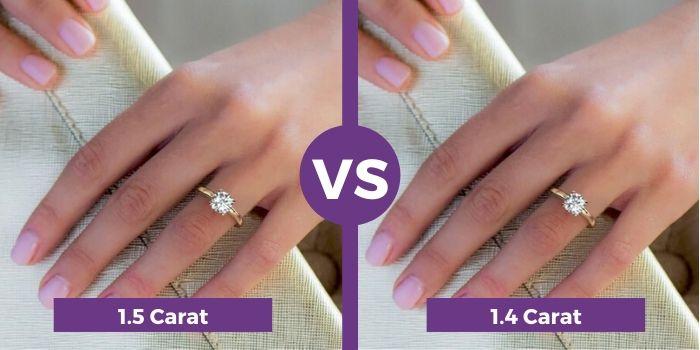 1.5 carat vs 1.4 carat diamond ring comparison (3)