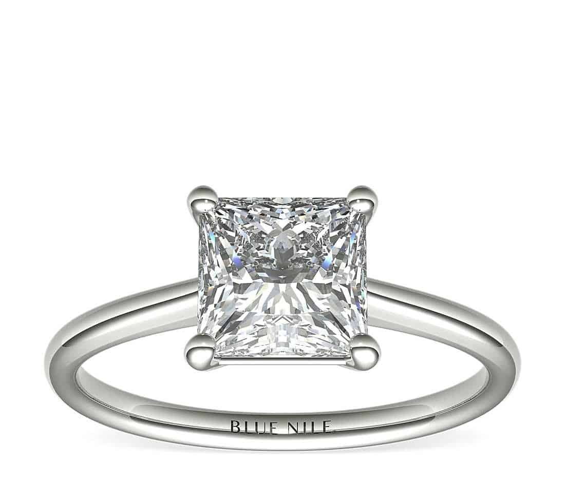 2 carat princess diamond ring