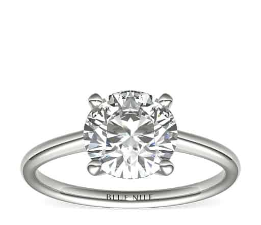 2 carat round brilliant diamond ring
