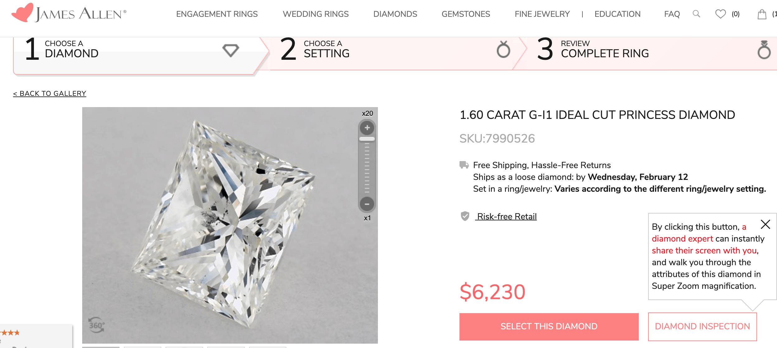 James Allen diamond