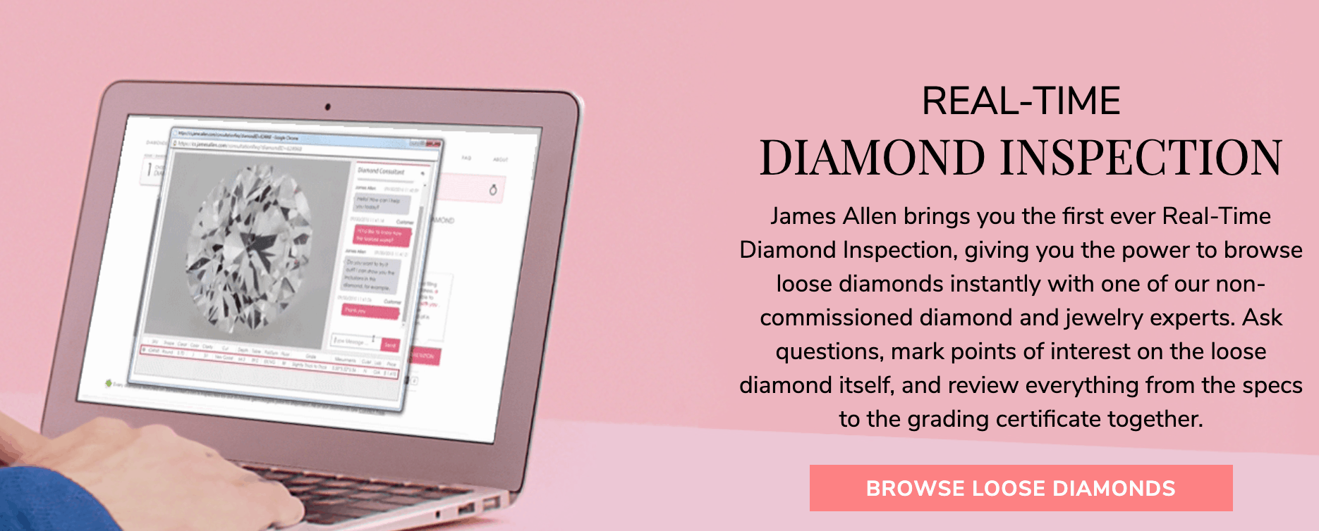 James Allen diamond inspection