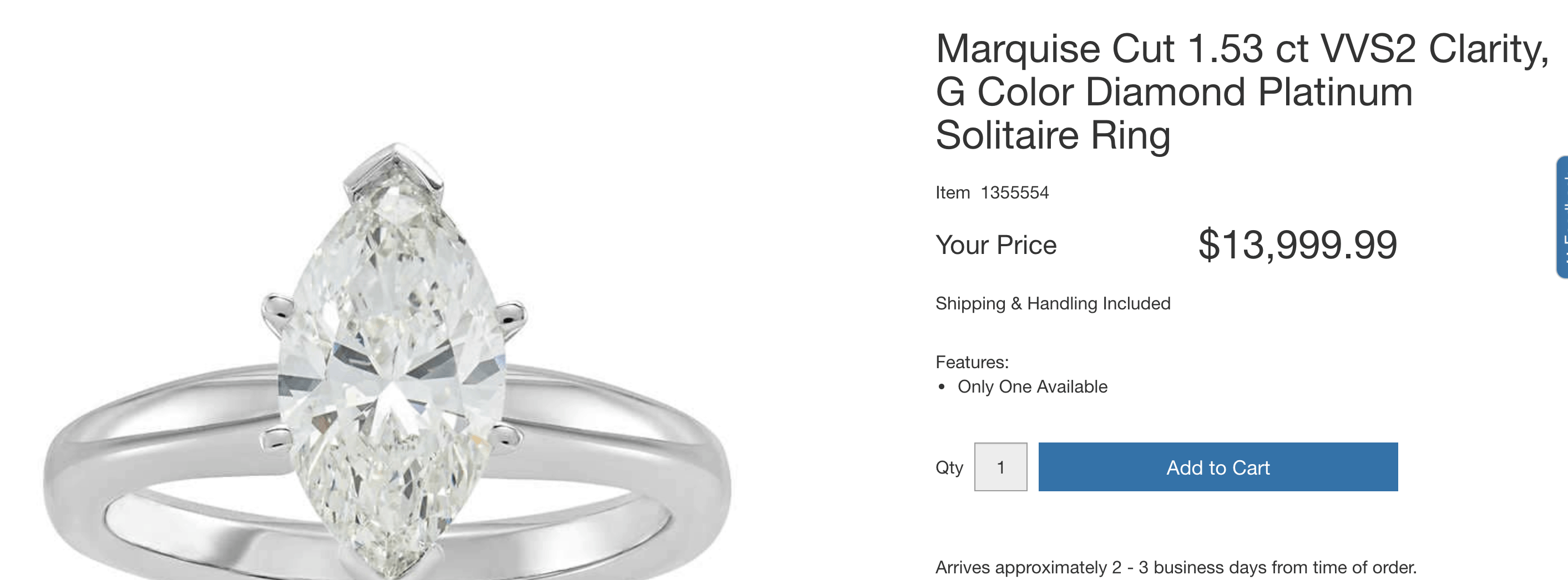 Costco marquise cut ring