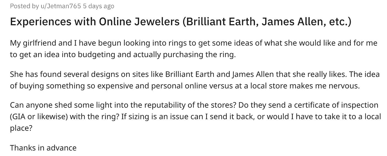 reddit online jewelers