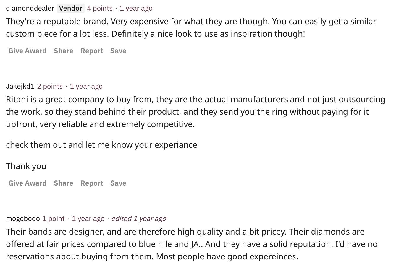 Reddit Ritani reviews