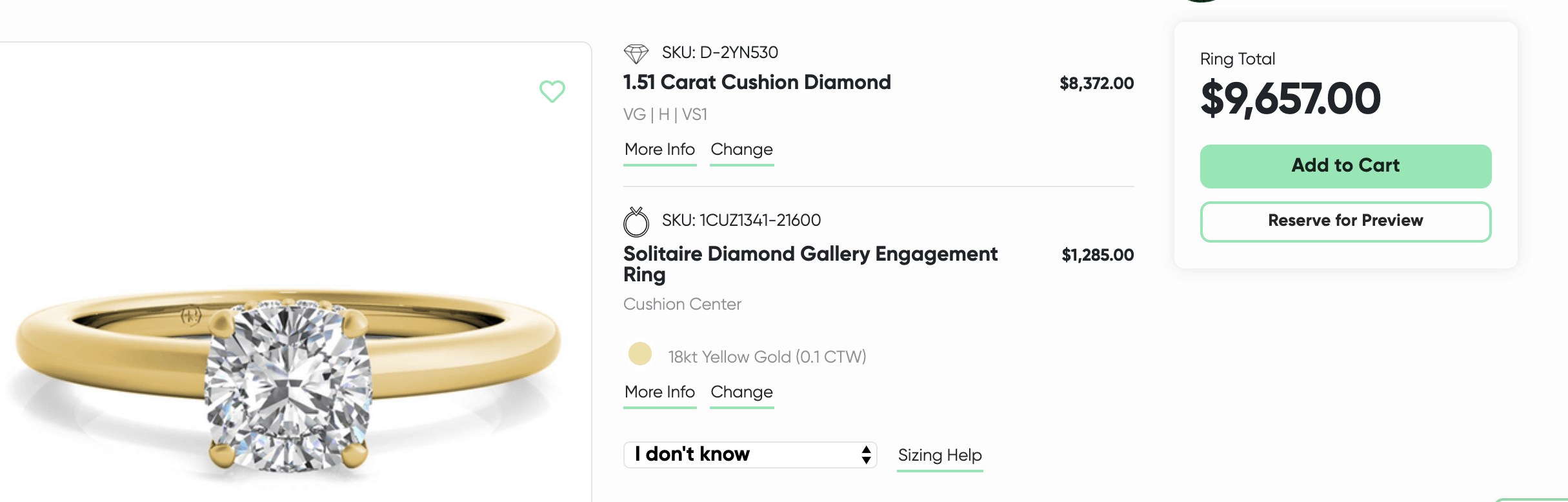 Ritani gold ring