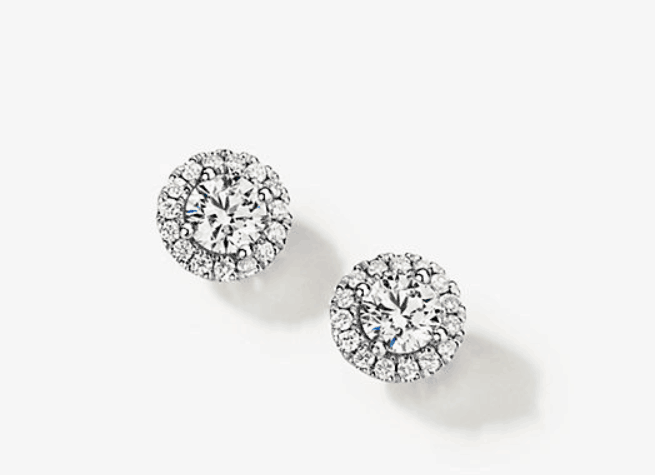 stud diamond earring style from white flash
