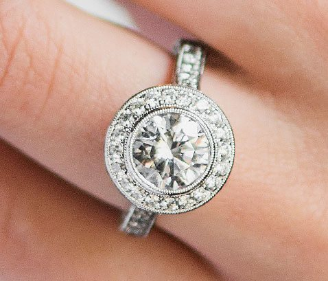 diamond engagement ring from james allen online store