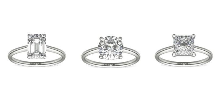 different 1.5 carat diamond ring cuts