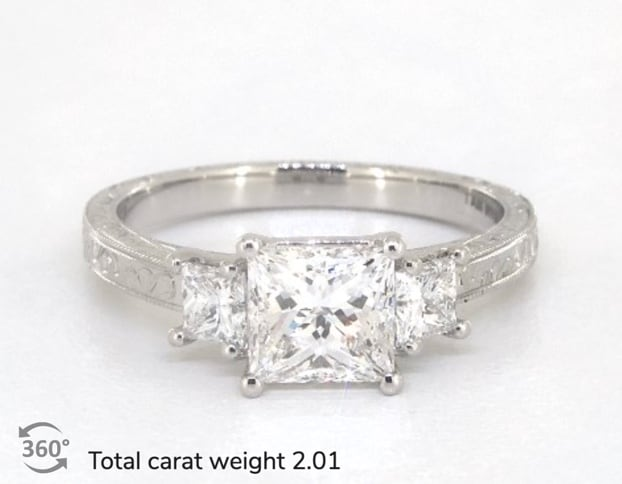example of total carat weight 2 carats