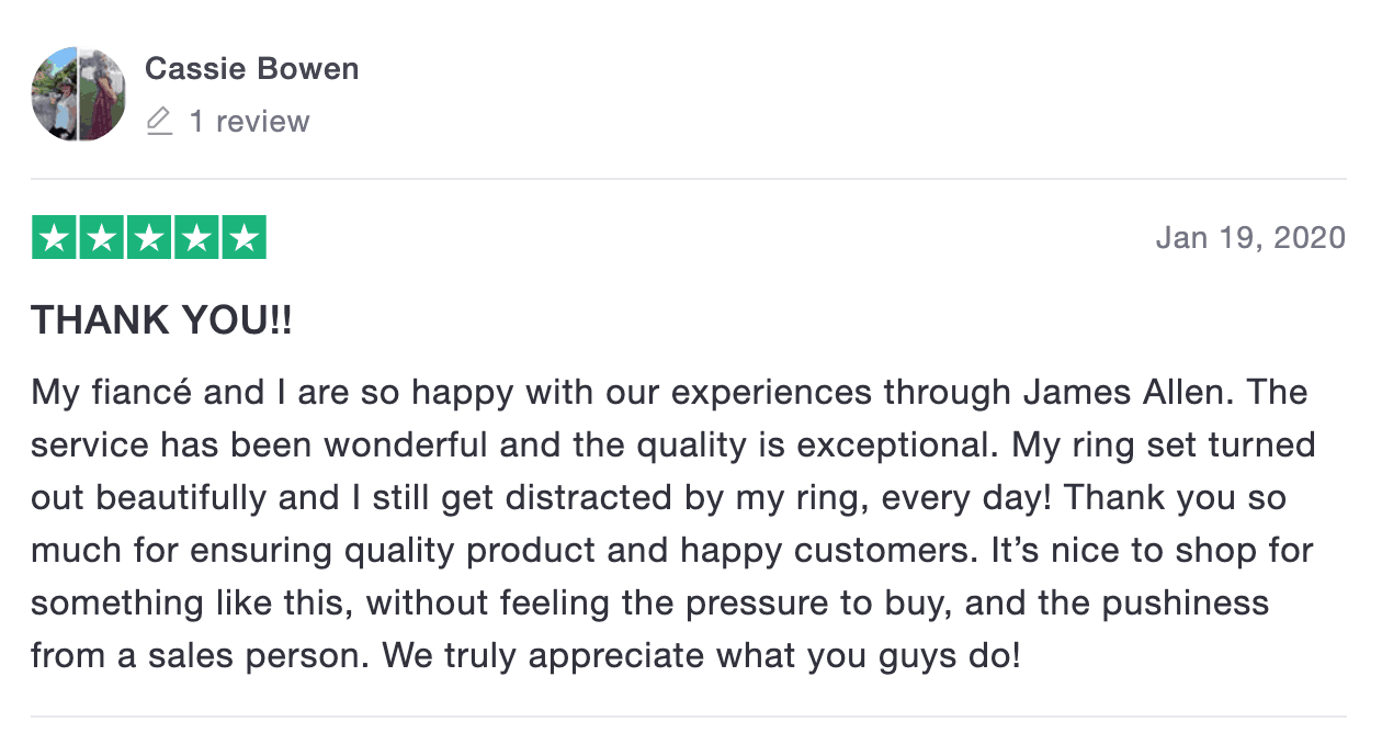 James Allen positive review
