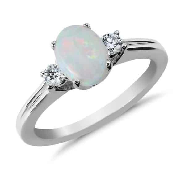 white opal compared to diamond alternative