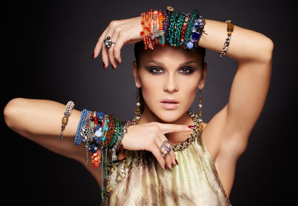 Beautiful Woman Wearing Bracelets
