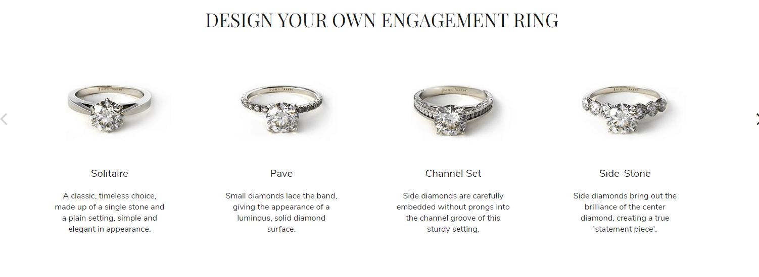 James Allen custom ring