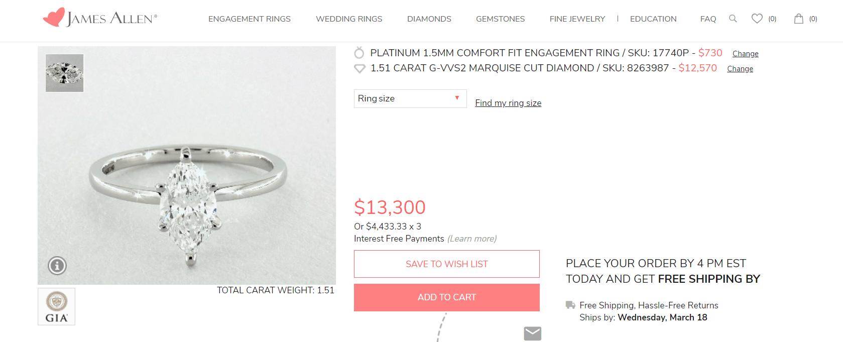 James Allen ring