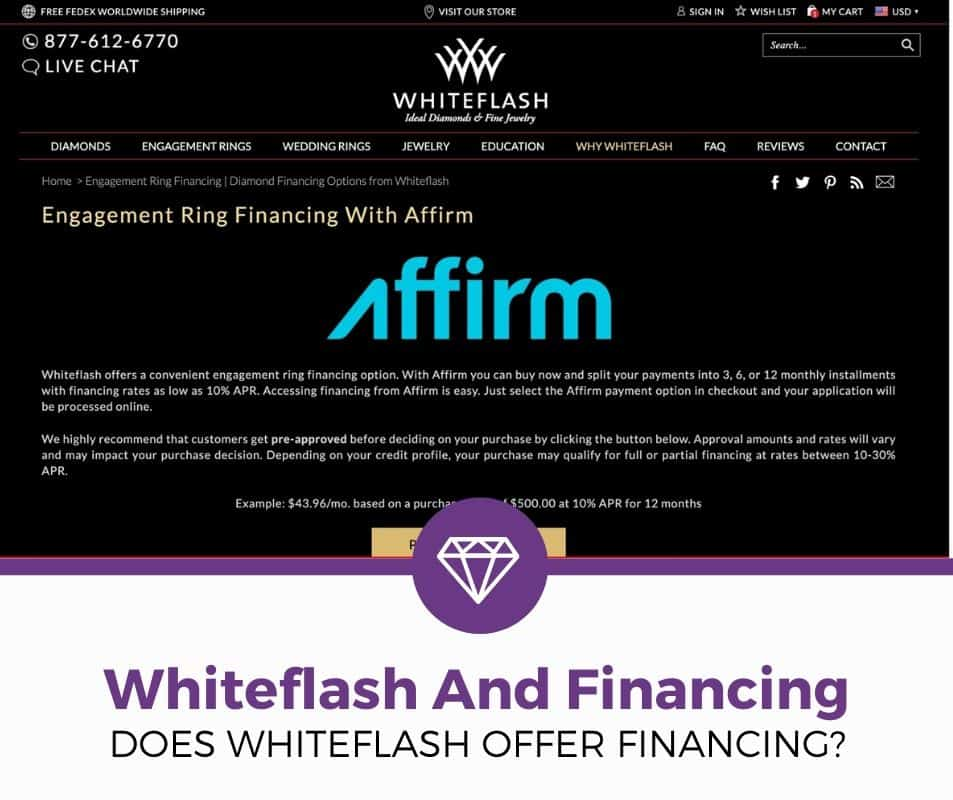 does whiteflash offer financing or loans
