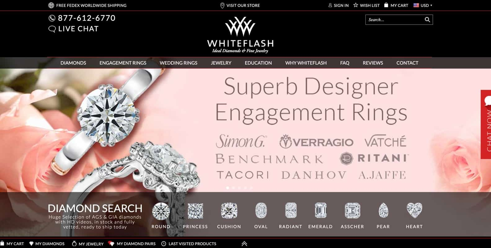 whiteflash review diamonds