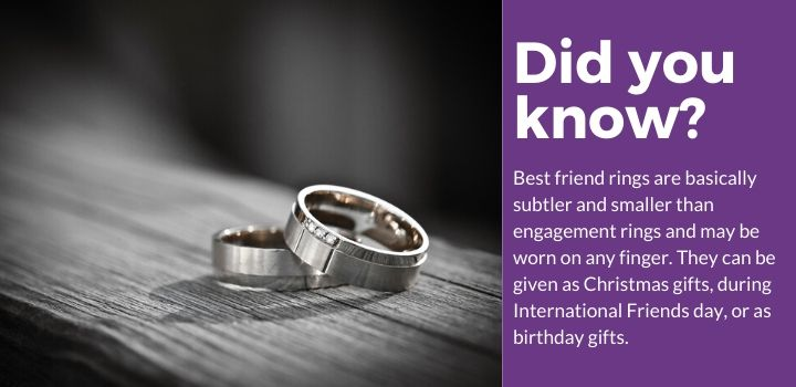 Best Friend Rings For 2 Facts