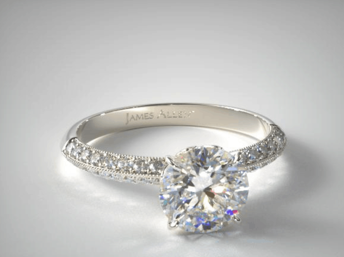 Basket Setting Engagement Ring