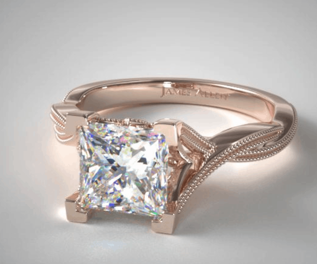Twist Setting Engagement Ring