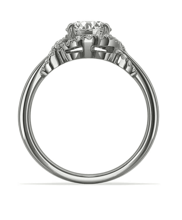 Flush Setting Engagement Ring