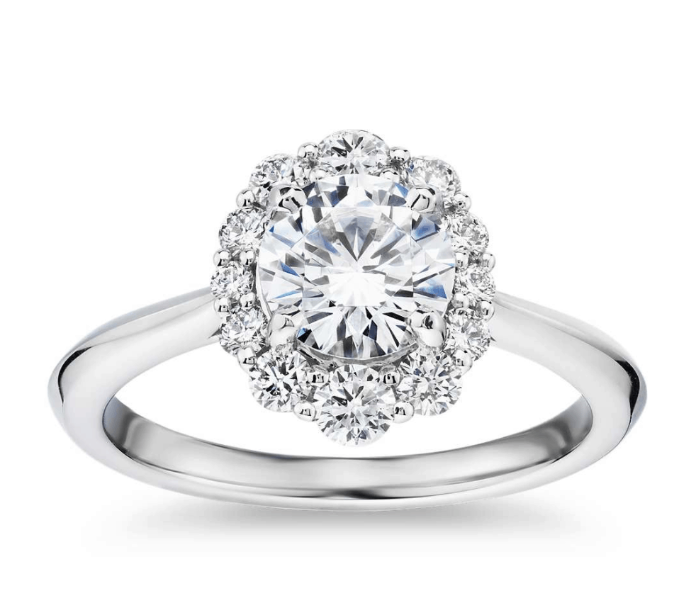 Flower Setting Engagement Ring