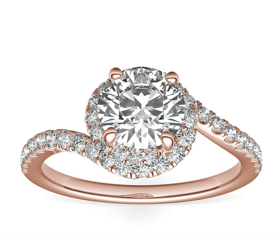 Tension Style Setting Engagement Ring