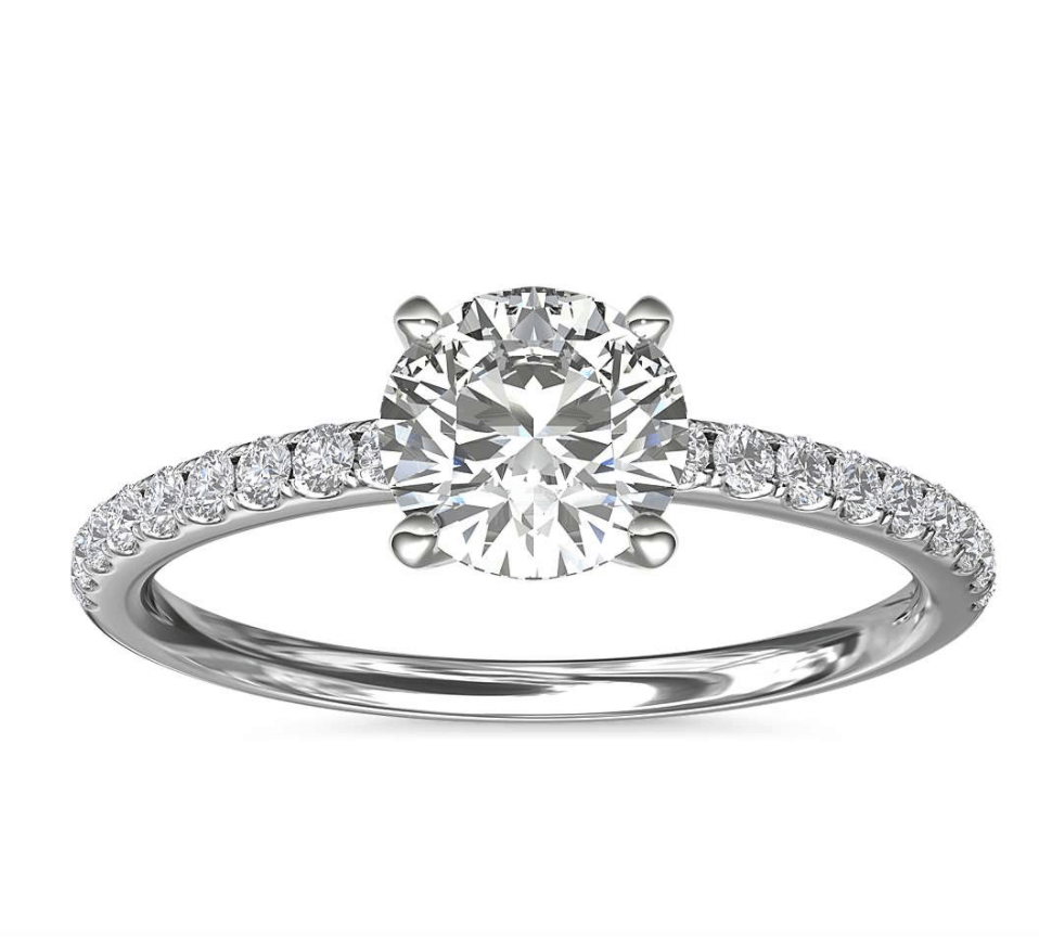 Pavé Setting Engagement Ring