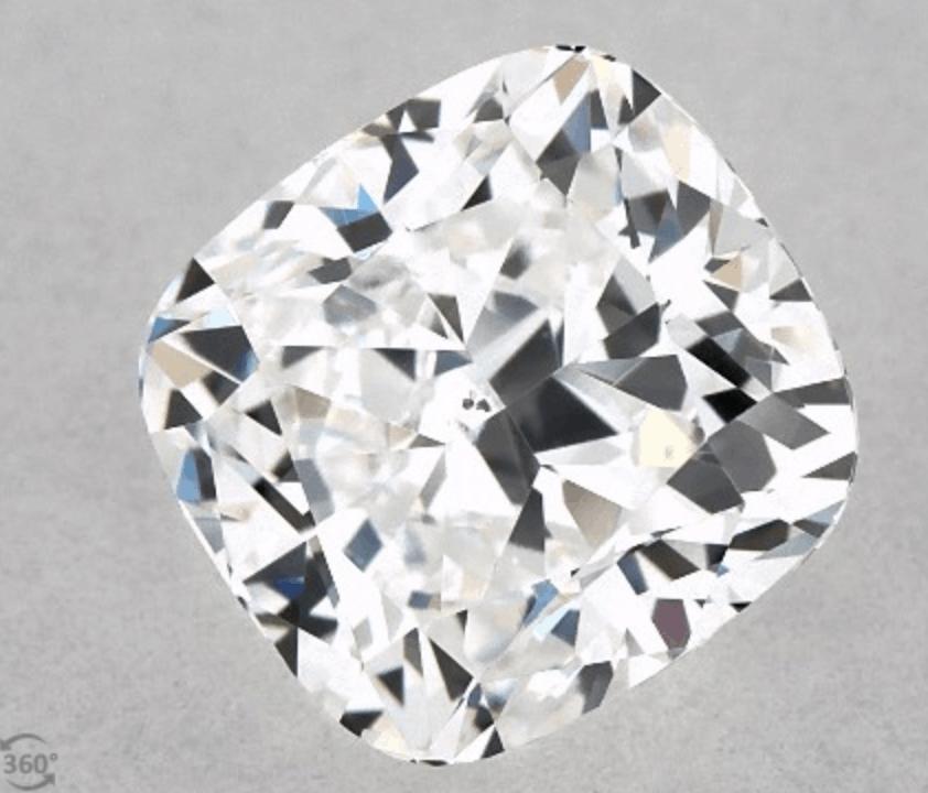 Crushed Ice Cushion cut 1.02 carat diamond vs2