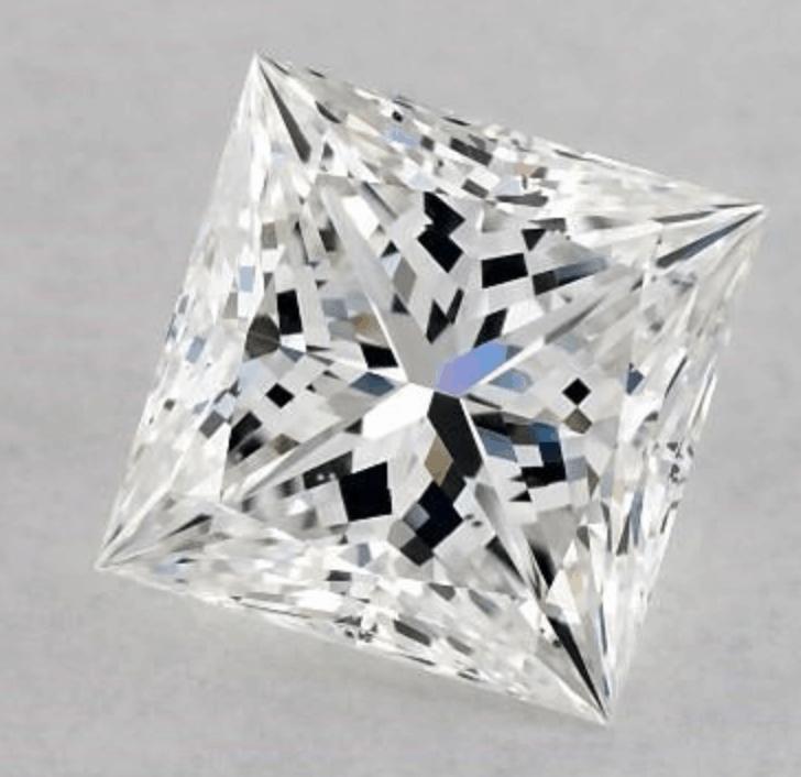 e color princess cut diamond 1.01 carat